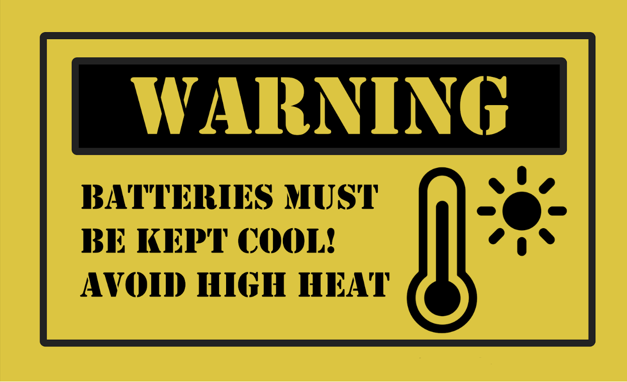 cells and batteries warning about heat